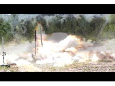 Detonation of 155 mm M107 artillery round