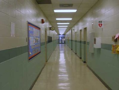 Retrofitting a corridor tornado safe room into this school is Remagen's specialty.