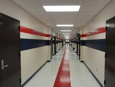 These Remagen school corridor tornado safe rooms are directly accessible from each classroom