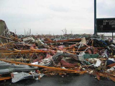 The city of Joplin, MO was devastated by the May 2011 tornado