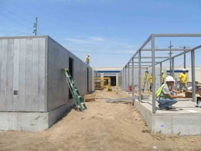 Prefabricated frames and panels of the safe room system were quickly erected and  anchored by USACE contractors using Remagen's illustrated Assembly Instructions.