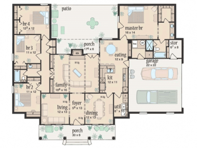 Where can a tornado safe room complying with FEMA P-320 be located inside this residence  and not change the functions or the architecture of the building?